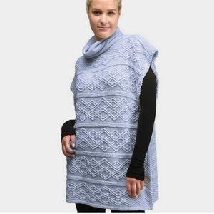 Cowl Neck Knit Poncho